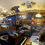los angeles rams man cave